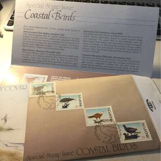 First Day Cover Coastal Birds 1984