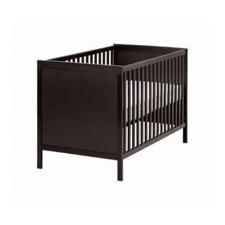IKEA Sundvik Baby Cot - Dark brown