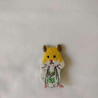 倉鼠 買餸 胸針 扣針