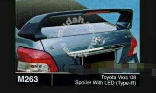 Toyota vios '08..spoiler with LED(type R)