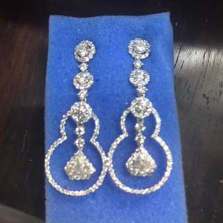 Diamonds .90cts each 1.80cts 18k white gold