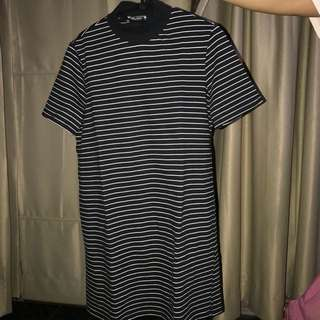 zara stripped dress