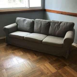 IKEA Ektorp 三人 灰色 沙發