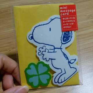 Snoopy mini message card