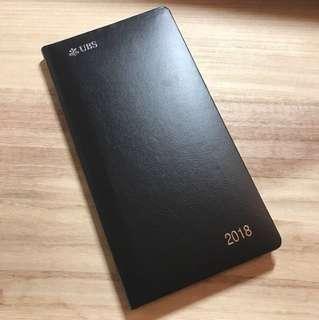 UBS 2018 diary 黑色硬皮日記簿