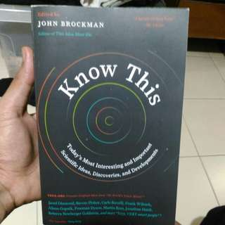 Know This edited by John Brockman