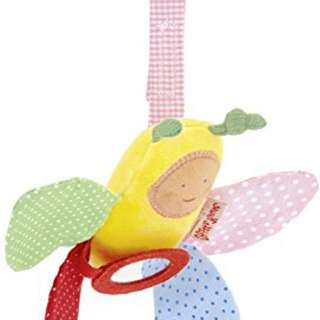 Kathe Kruse Butterfly toy for carseat stroller