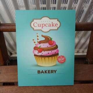 Hiasan Dinding Cupcake Biru