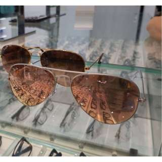 Ray ban aviator rose gold authentic