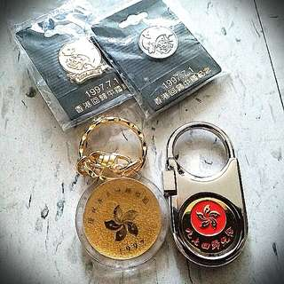 97回歸新光匙扣 HK Hong Kong Reunigication Key Chain