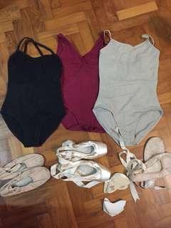 ballet clothes, leotard, ballet shoes pointe shoes
