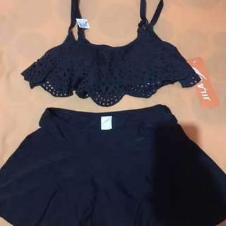 Black two piece swimsuit