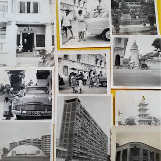 10 PHOTOS LOT - SINGAPORE various scene  - vintage b/w Black & White - small size ( Some could be Penang )