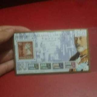 英女皇十元郵票