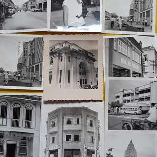 10 PHOTOS LOT - SINGAPORE various scene - vintage b/w Black & White - small size ( Some could be Penang )- S2