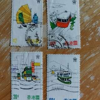 香港郵票一套四全已銷郵票