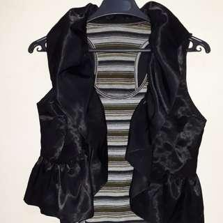 ruffle vest