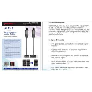 Peerless Alpha Professional Optical Cable For Sale