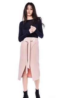 Editor's Market Lornie Overlap skirt - Dust Pink