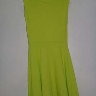 Paper Scissors Green-colored Dress