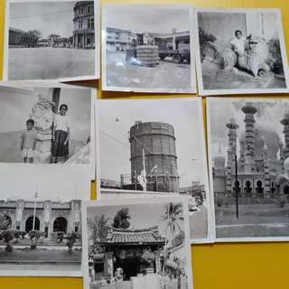 8 PHOTOS LOT - SINGAPORE various scene - vintage b/w Black & White - small size ( Some could be Malaya )