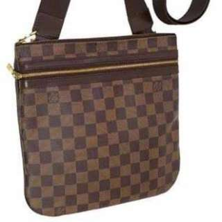 Louis Vuitton Damier Ebene with box, dustbag, and card