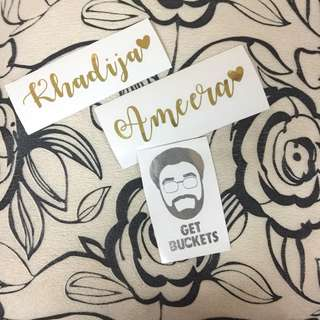PERSONALIZED VINYL STICKERS