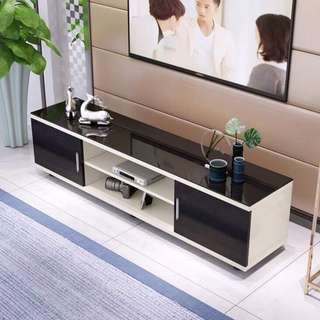 Tv table with tenpered glass
