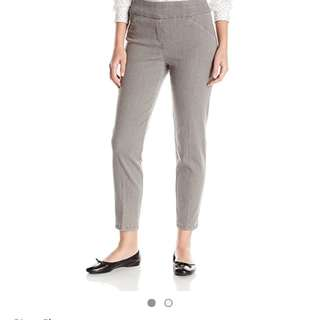 Bnwt Alfred dunner Heather grey jeggings XL Size 14