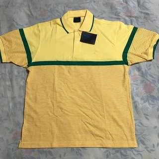 Van Heusen Yellow Polo Shirt (Size: XL)