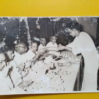 K. KAMARAJ in a function ( vintage photo washed in Singapore ) - Tamil Nadu ( India ) Politician and former Chief Minister, Leader of indian national congress