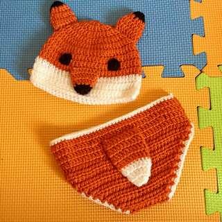 Crochet fox costume