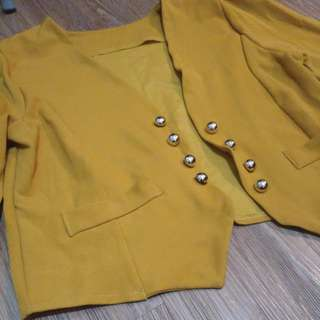 Mustard Yellow color Cardigan