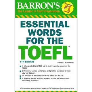 Ebook Barron's Essential Words For The TOEFL