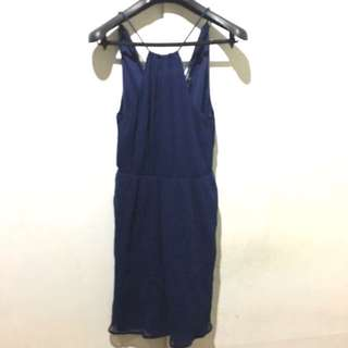 Zara Blue Razerback Dress