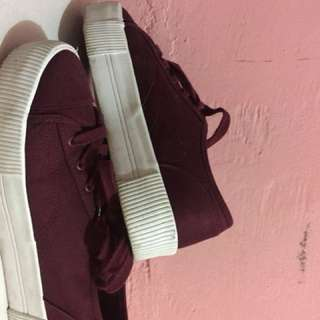 H&m Shoes maroon