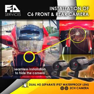Front & Rear Camera Installation on Motorcycle