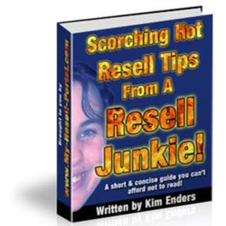 Scorching Hot Resell Tips From A Resell Junkie! eBook