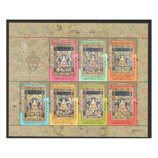 MACAU CHINA 2017 THANGKA SEVEN BUDDHAS OF THE PAST SOUVENIR SHEET OF 7 STAMPS IN MINT MNH UNUSED CONDITION