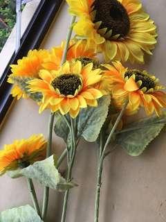 Sunflowers decor (made of plastic)
