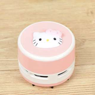 Cute Mini Table/Desk Top Vacuum Cleaner-Hello Kitty Pink