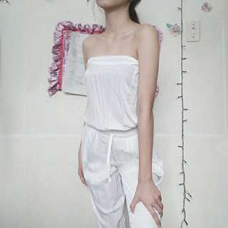 Kendall Jenner Inspired White Tube Jumpsuit