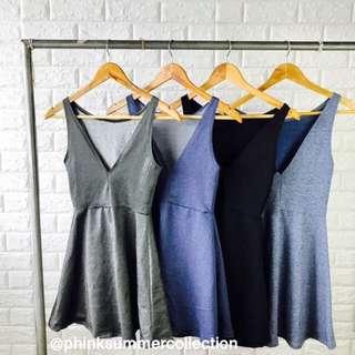 Vneck Skater Dress