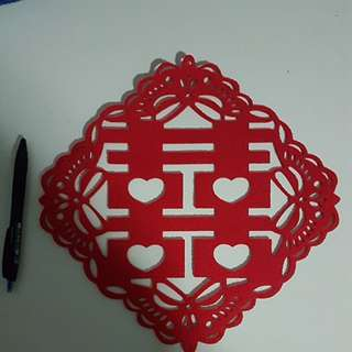 Double happiness xi sticker wedding deco thick