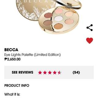 Becca Eye Lights Pallets (Limited Edition)