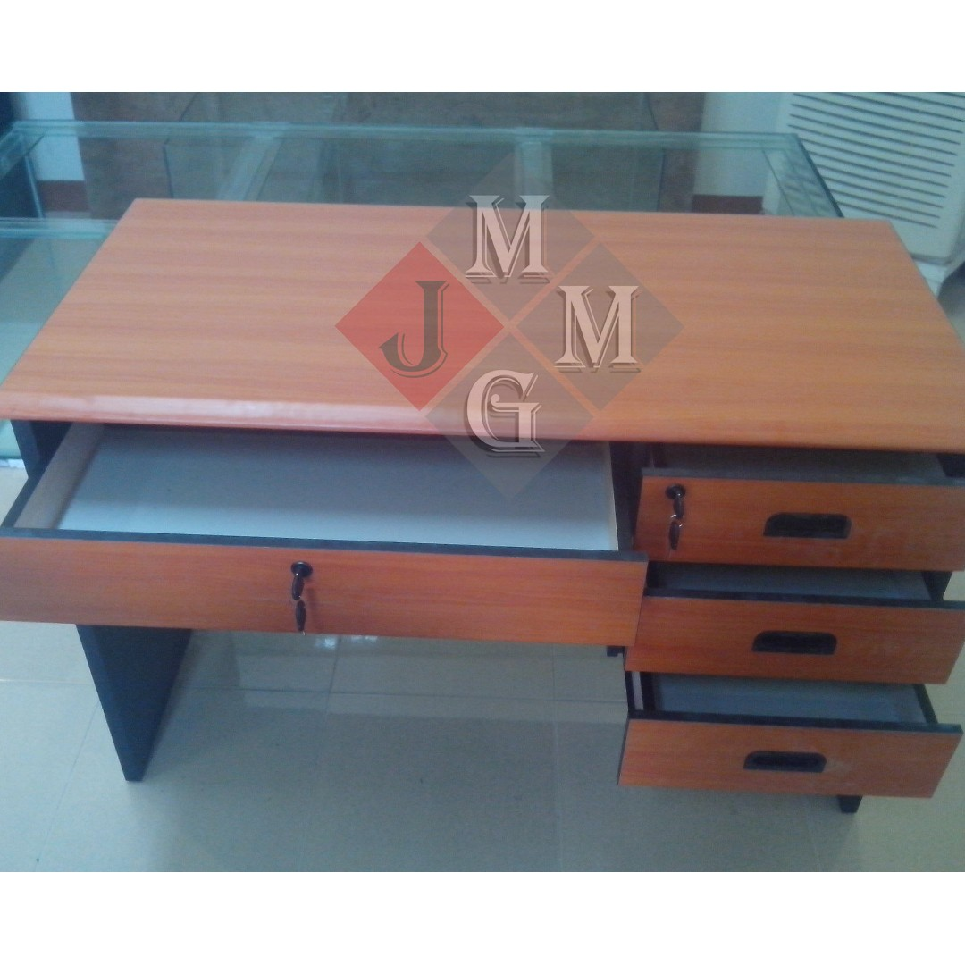 2 Tone Freestanding Desk Office Furniture Partition Home On Carou