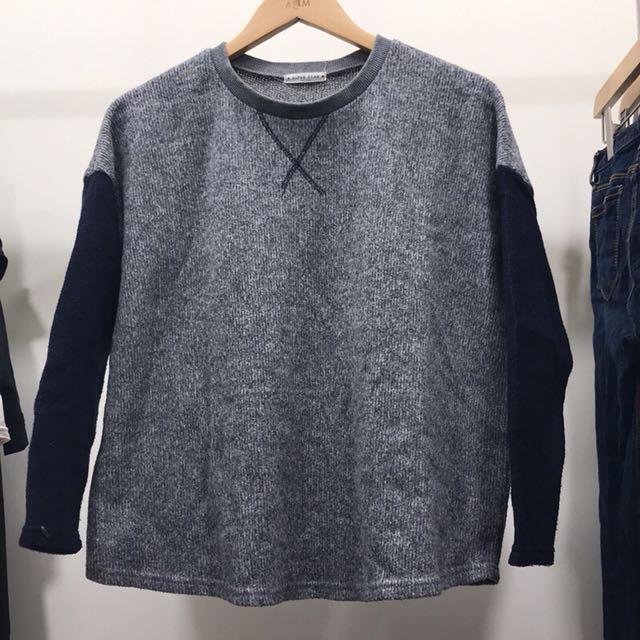 (二手少穿)韓國購買撞色針織上衣