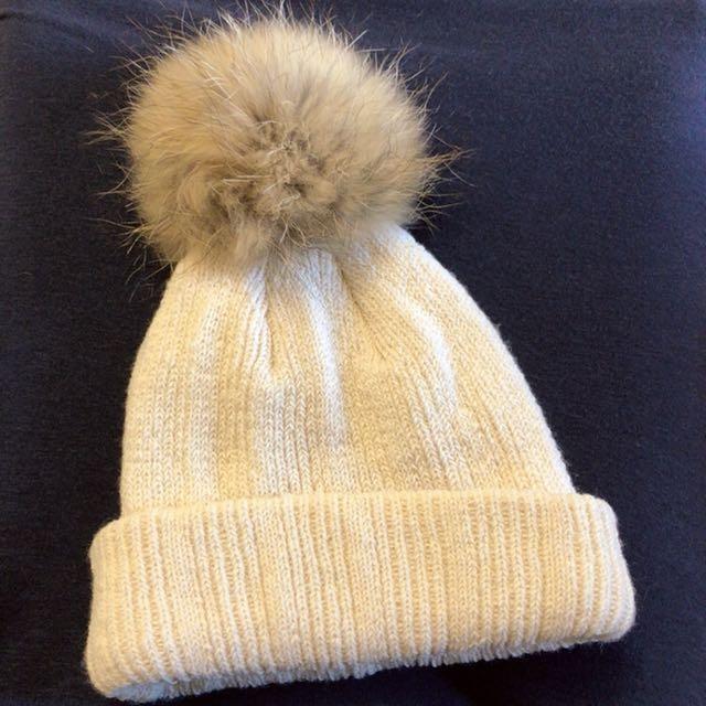 韓製毛球毛帽