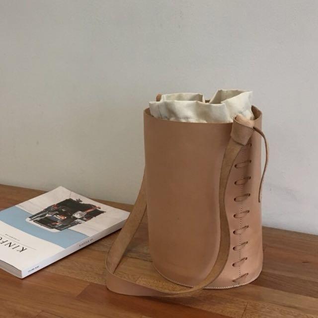 氣質織帶水桶包