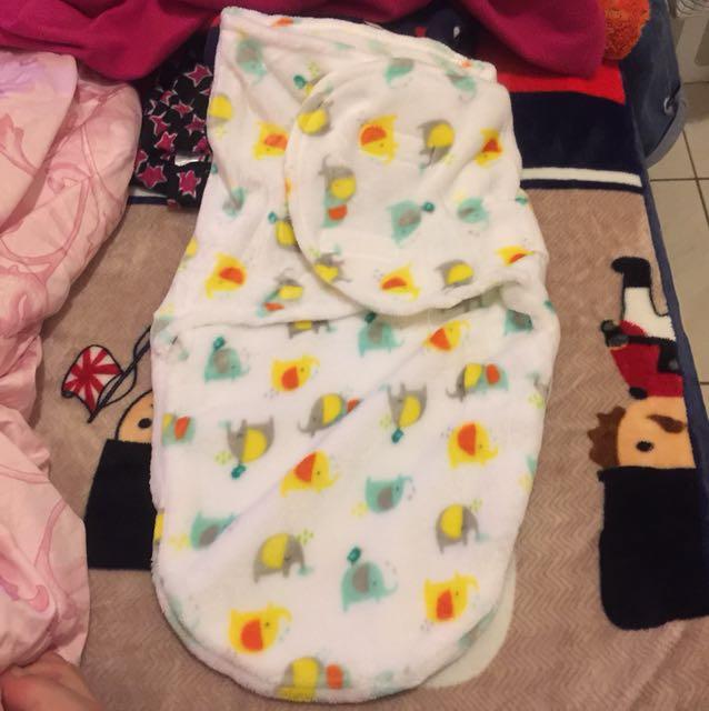 大象 嬰兒包巾